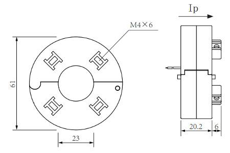 PL120-20B, Split Toroidal Current Transformer